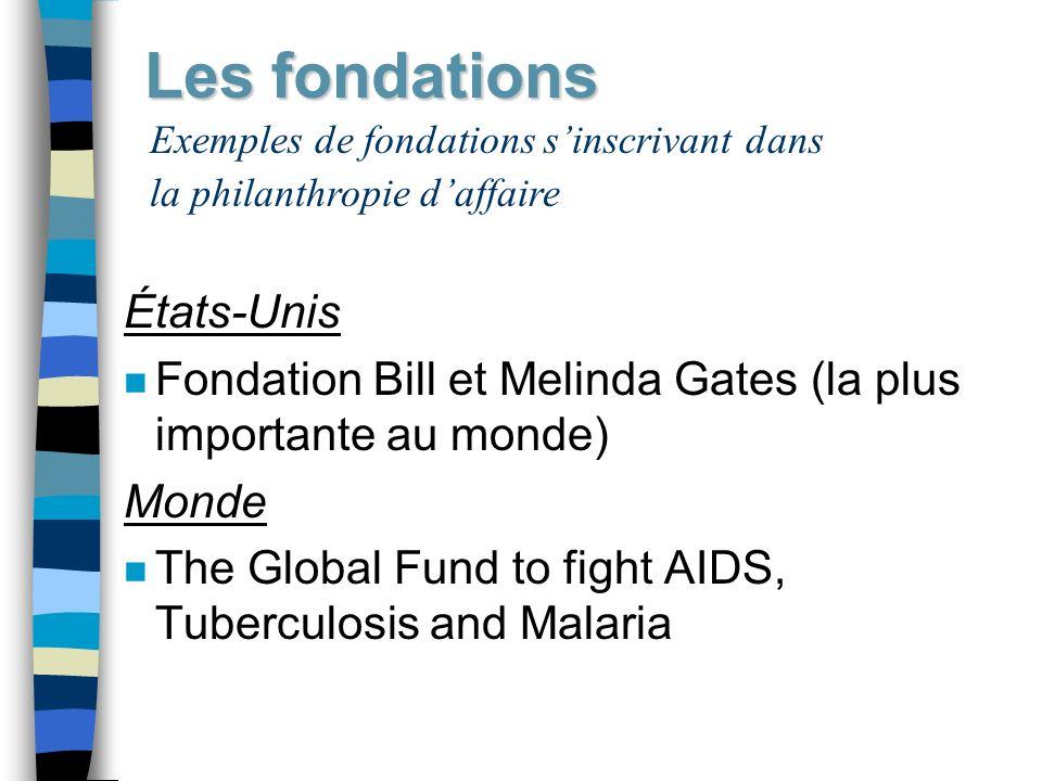 Les fondations États-Unis