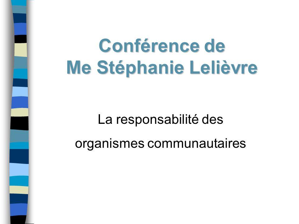 Conférence de Me Stéphanie Lelièvre