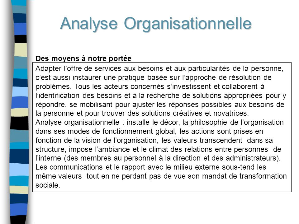 Analyse Organisationnelle