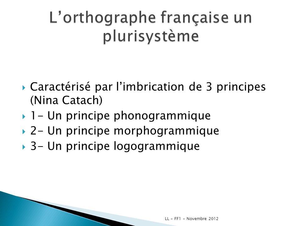 L'orthographe française un plurisystème