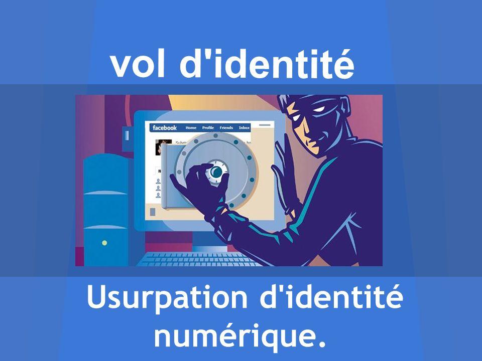 Usurpation d identité numérique.