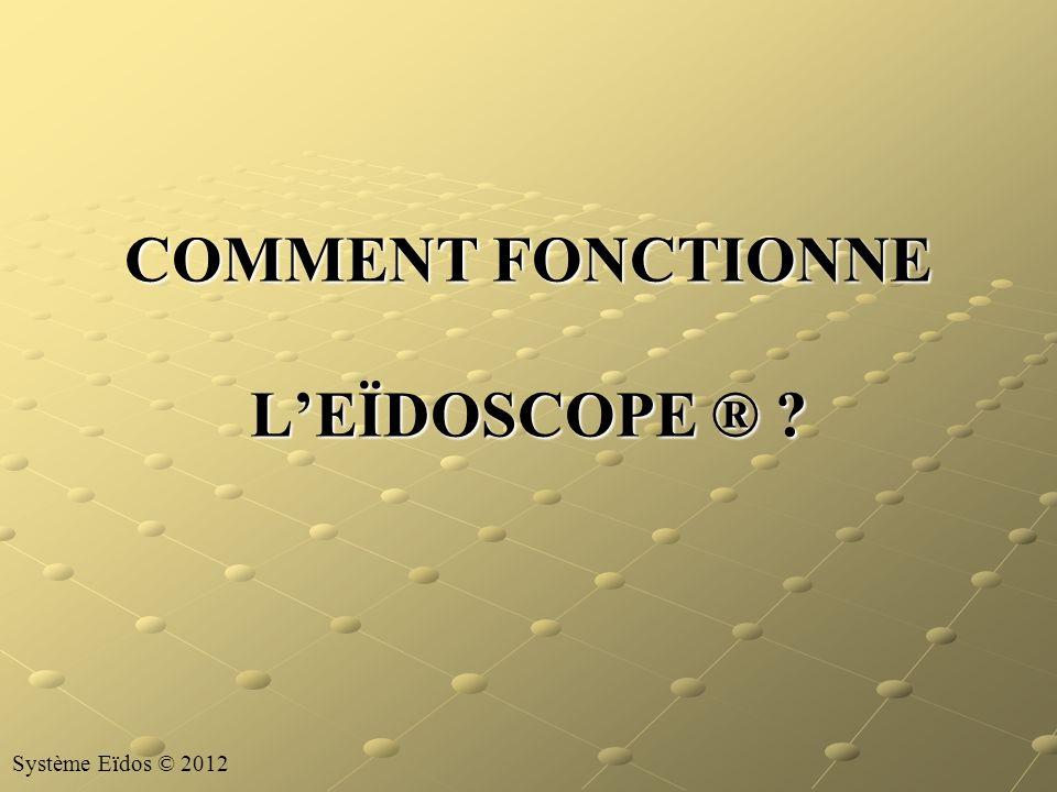 COMMENT FONCTIONNE L'EÏDOSCOPE ®