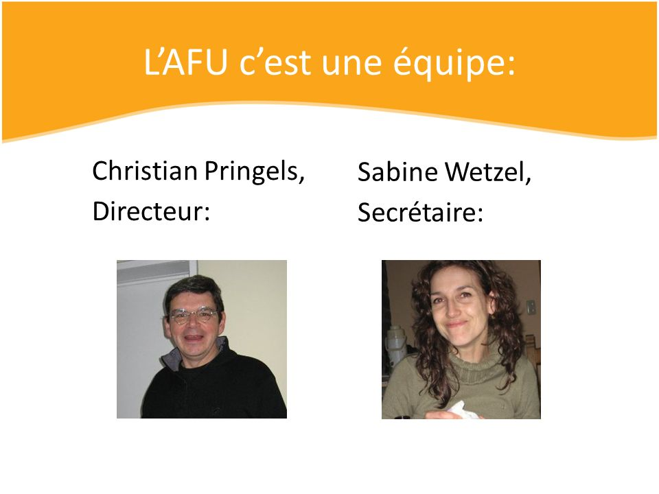 L'AFU c'est une équipe: