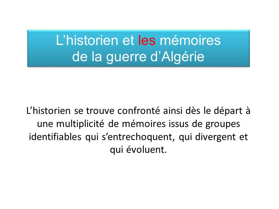 L'historien et les mémoires