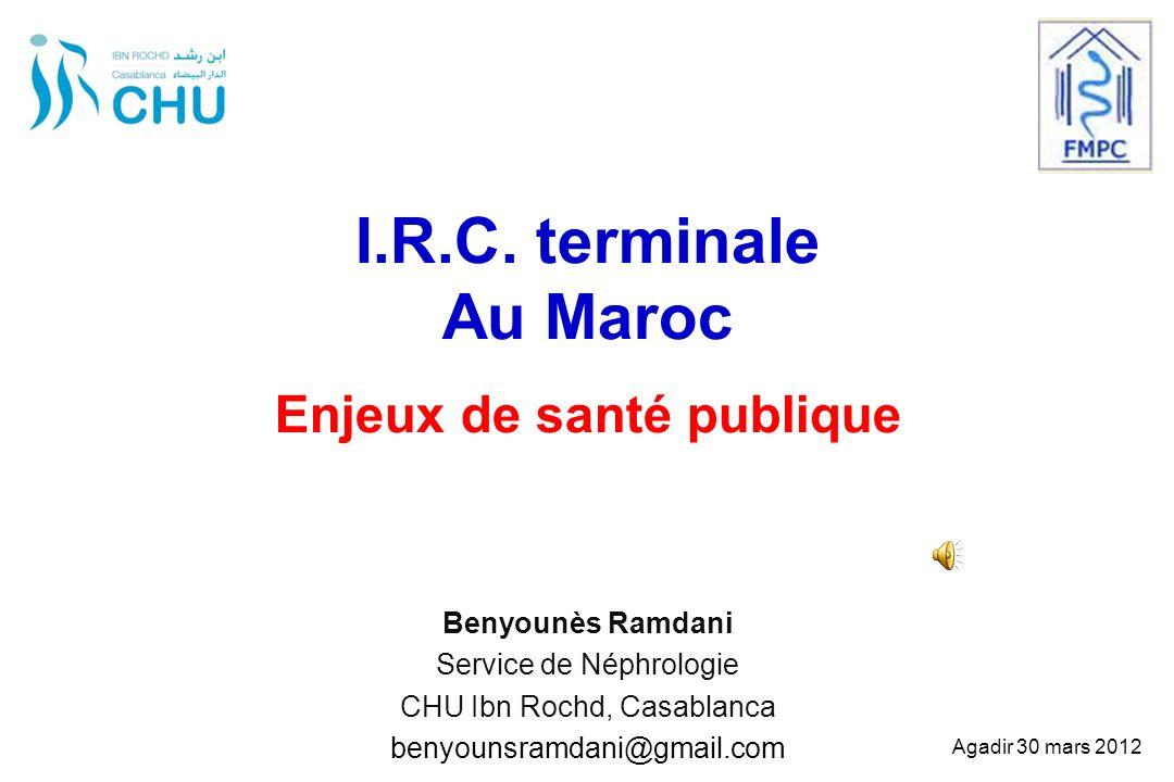 I.R.C. terminale Au Maroc Enjeux de santé publique