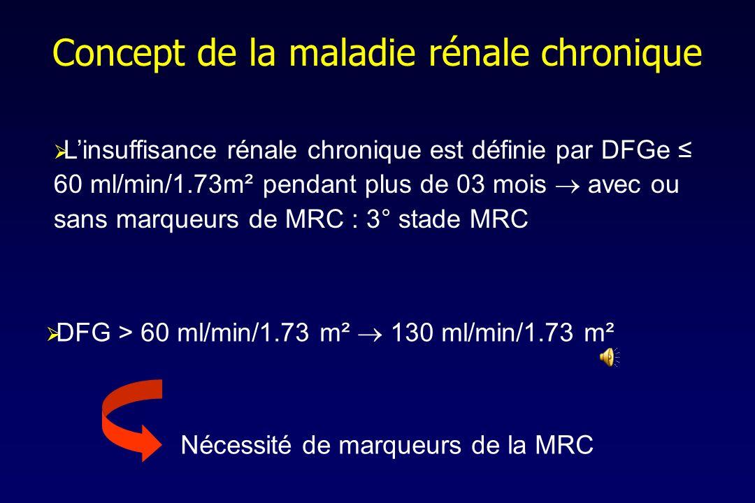Concept de la maladie rénale chronique