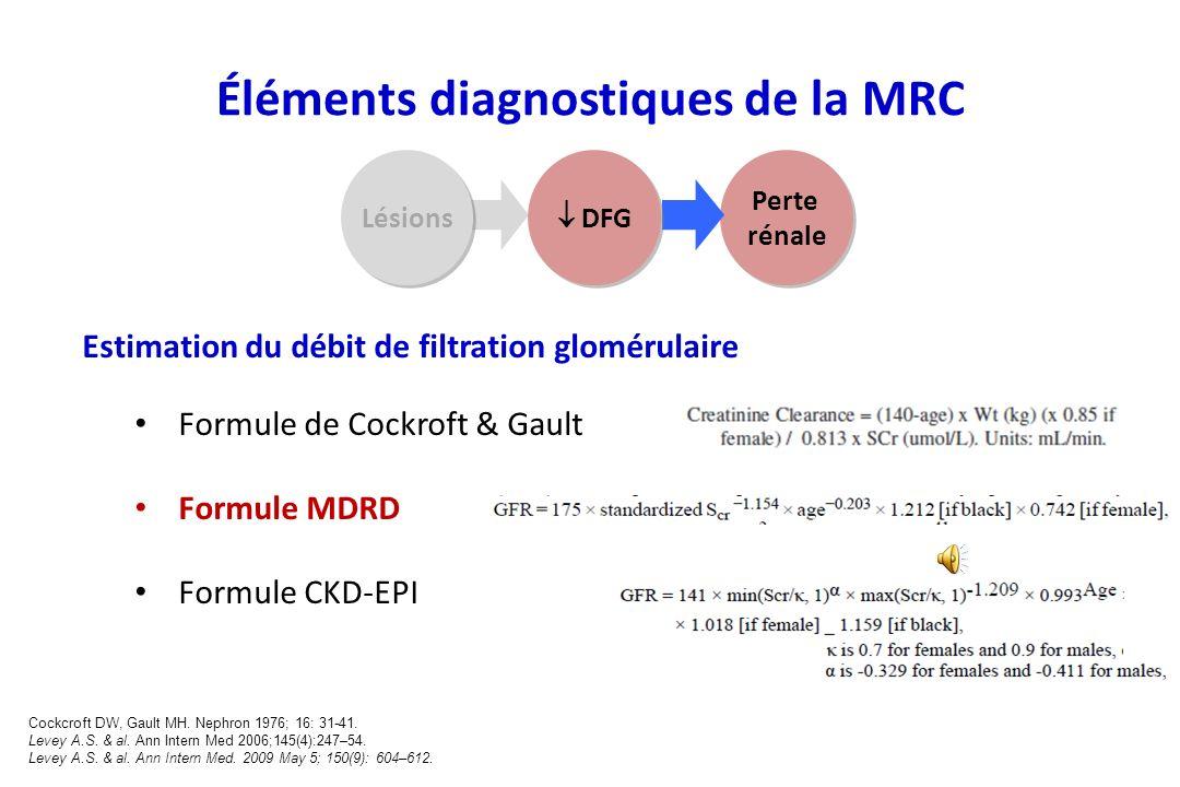 Éléments diagnostiques de la MRC
