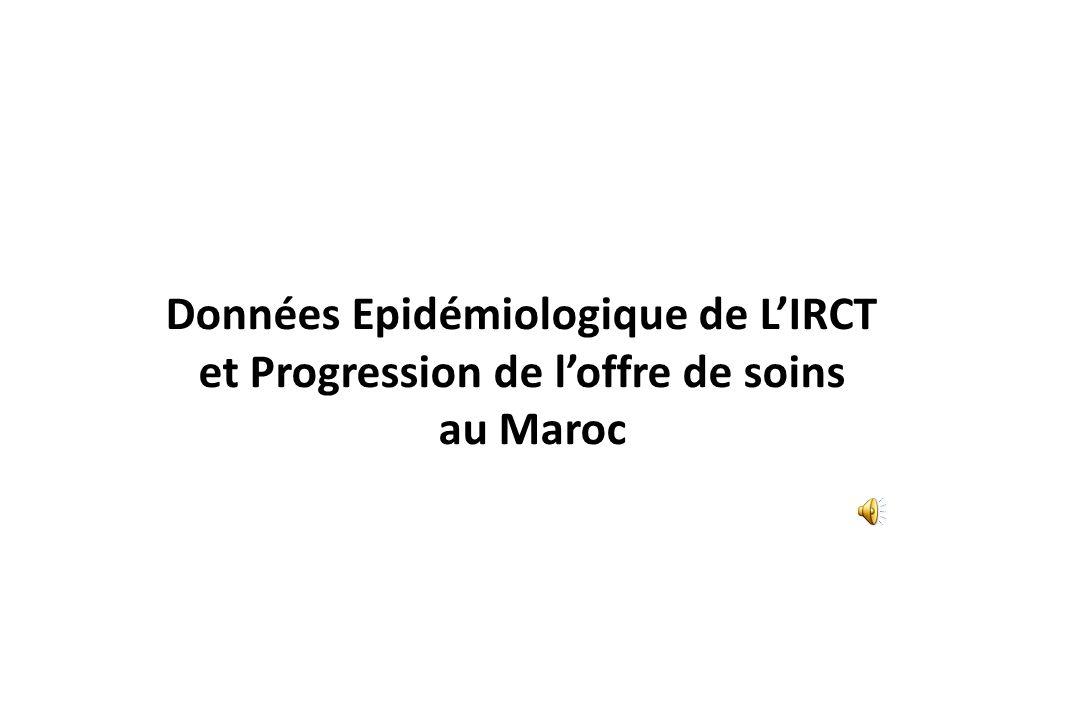 Données Epidémiologique de L'IRCT et Progression de l'offre de soins au Maroc