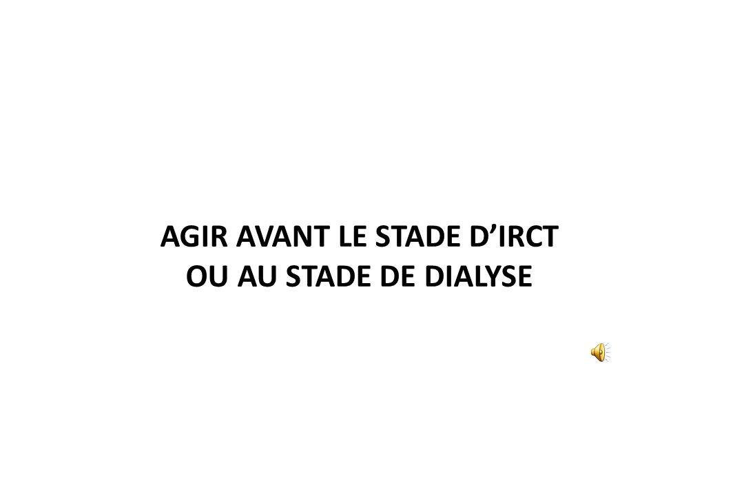 AGIR AVANT LE STADE D'IRCT OU AU STADE DE DIALYSE