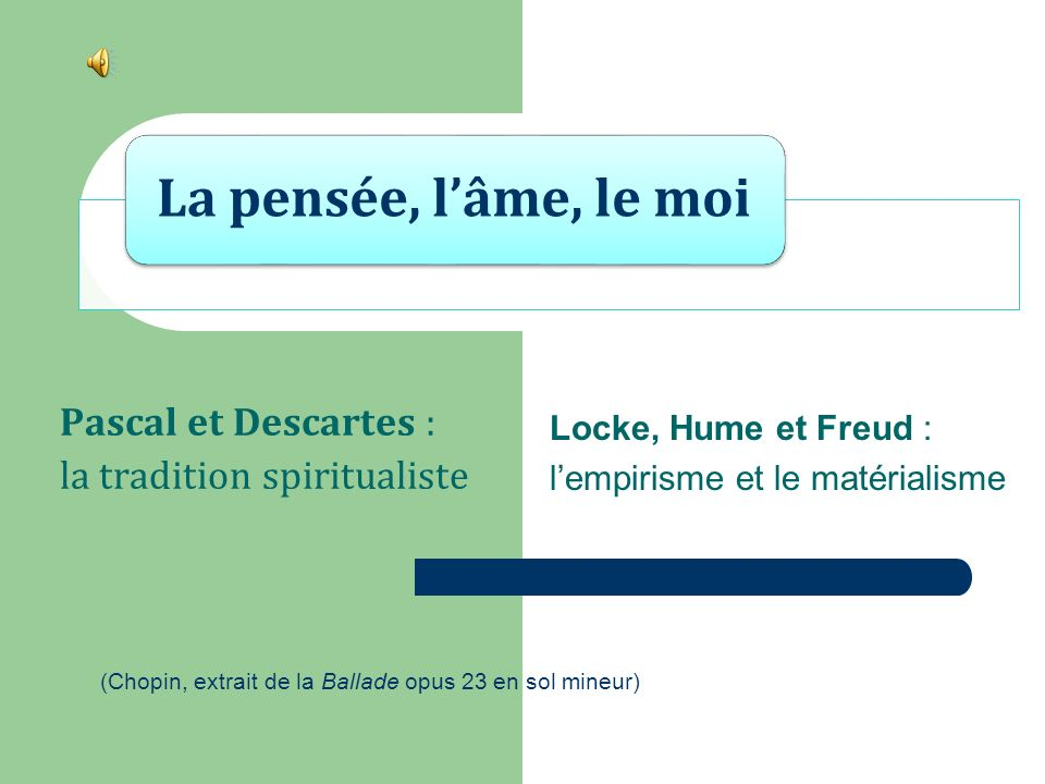 Pascal et Descartes : la tradition spiritualiste