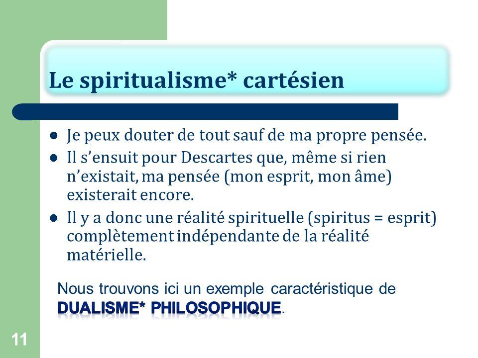Le spiritualisme* cartésien