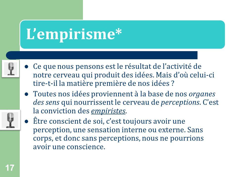 L'empirisme*