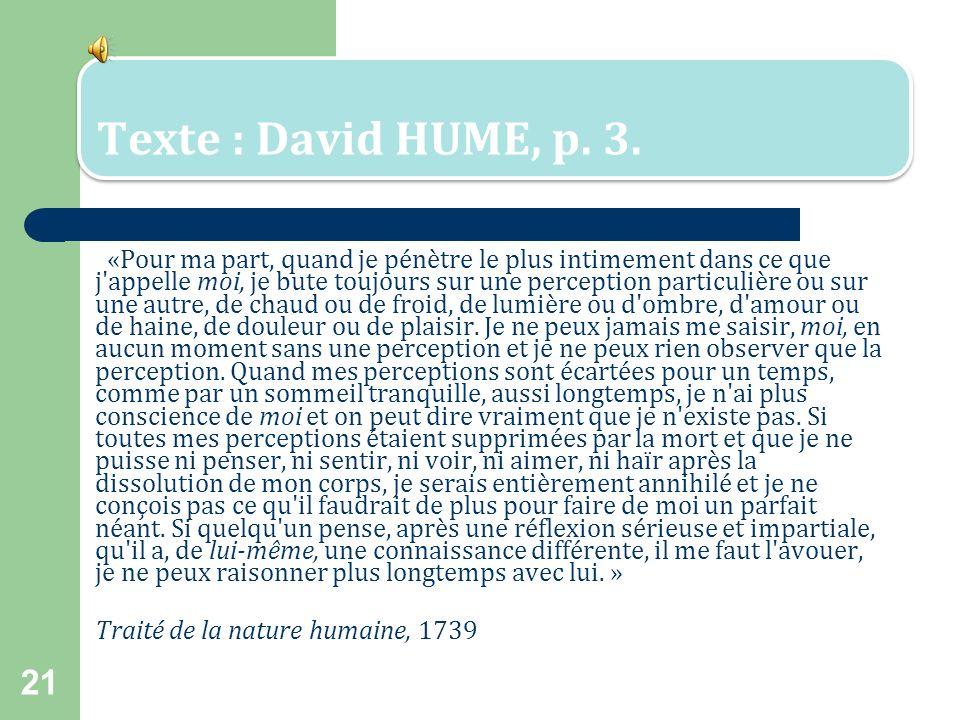 Texte : David HUME, p. 3.