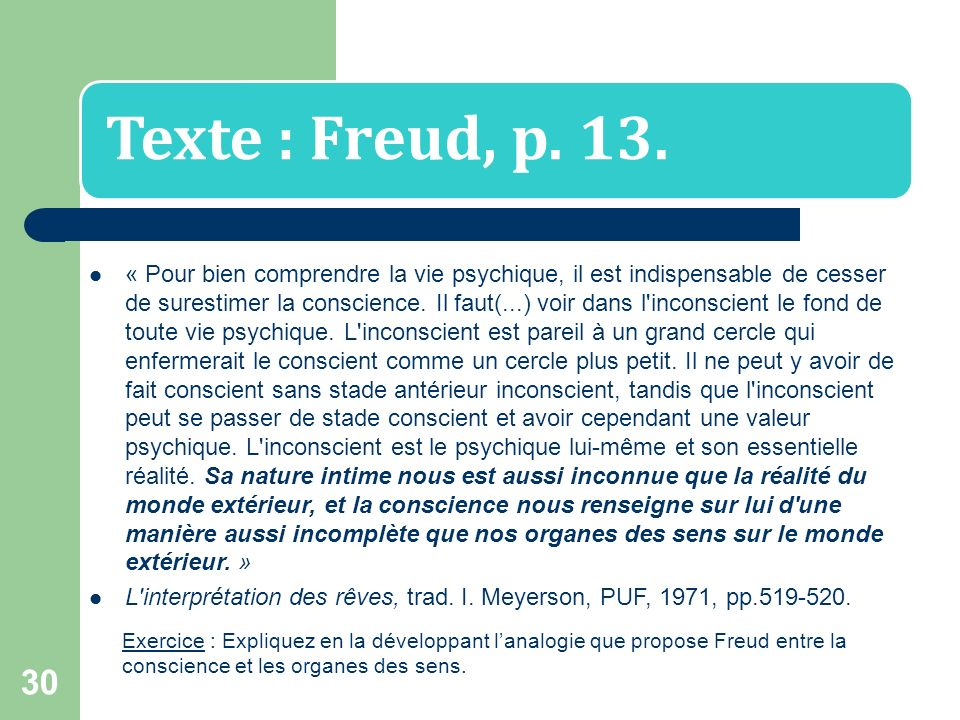 L interprétation des rêves, trad. I. Meyerson, PUF, 1971, pp.519-520.