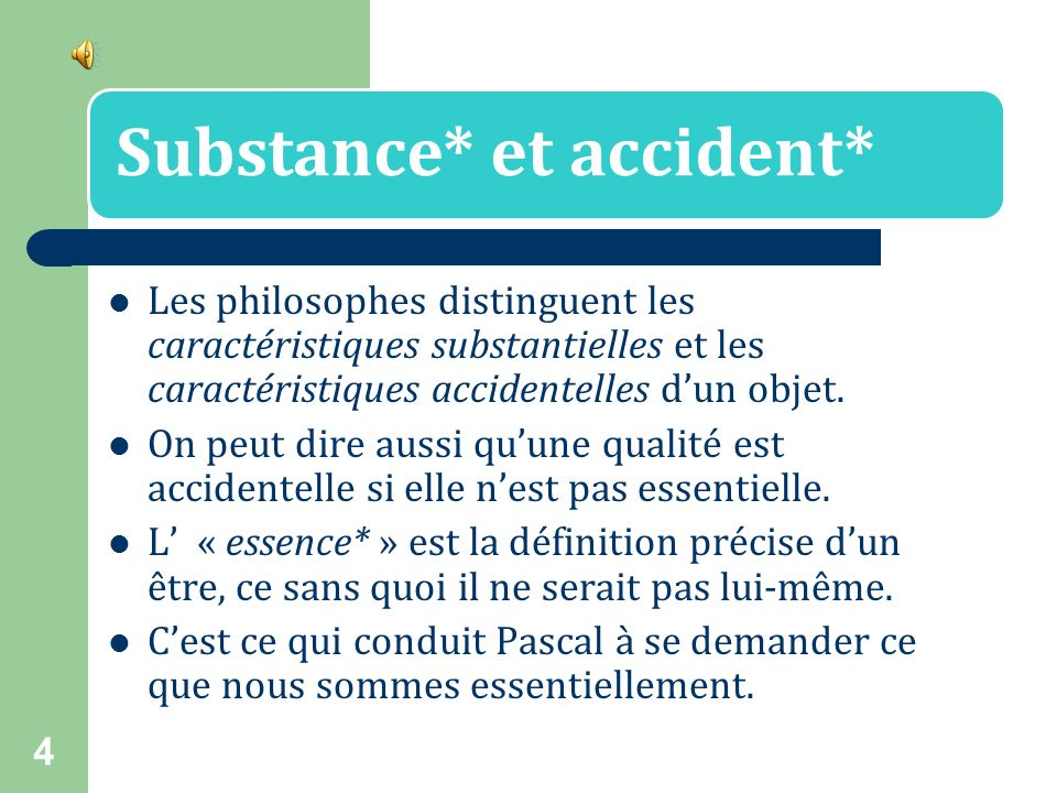 Substance* et accident*
