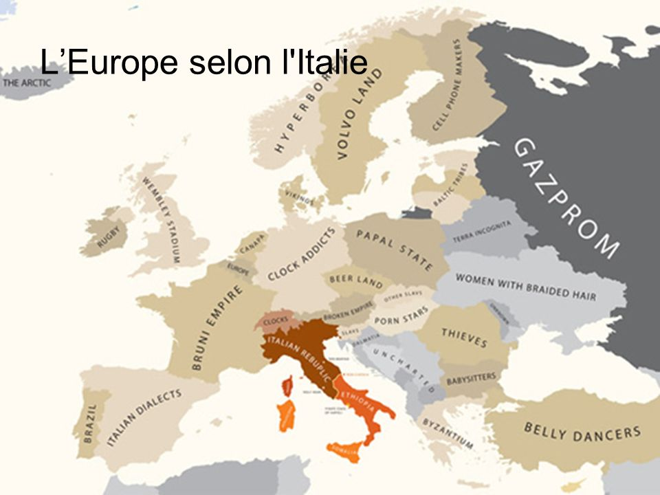 L'Europe selon l Italie