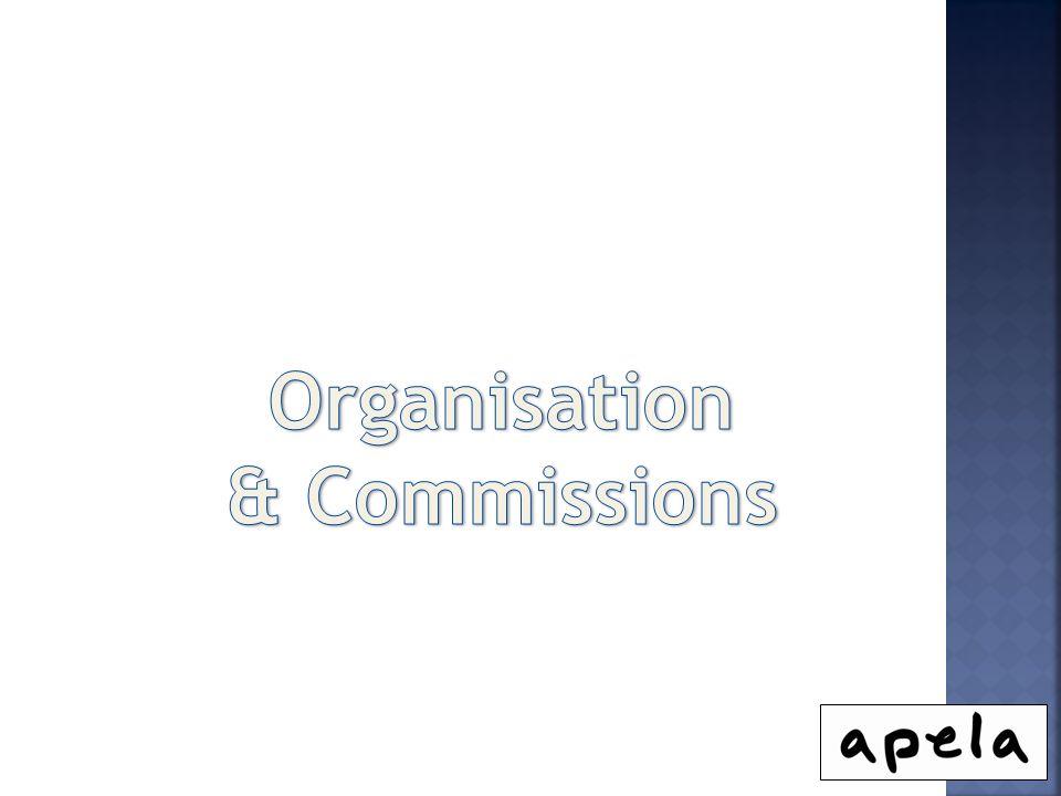 Organisation & Commissions