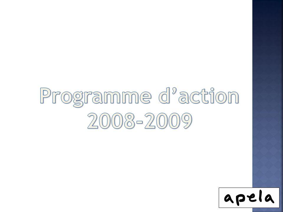 Programme d'action 2008-2009