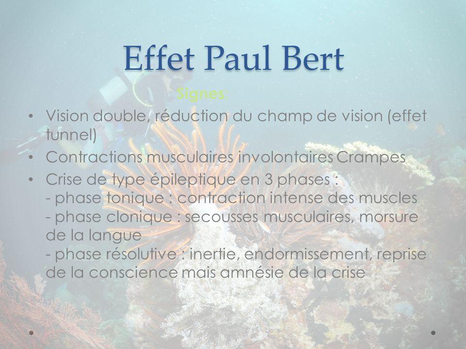 Effet Paul Bert Signes: