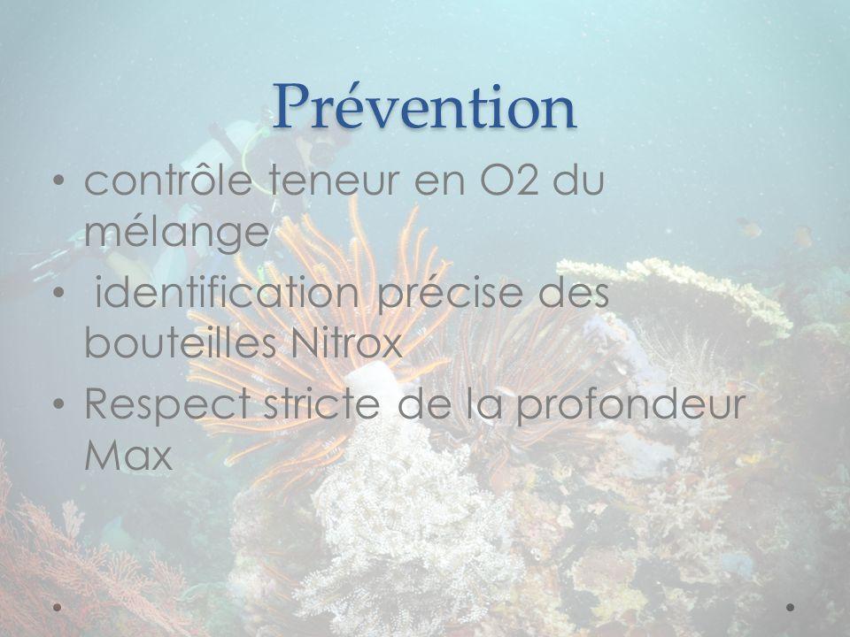 Prévention contrôle teneur en O2 du mélange