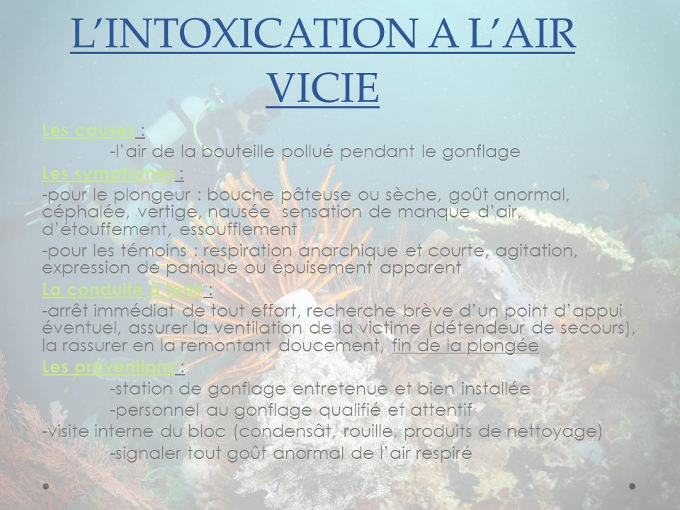 L'intoxication a l'air vicie