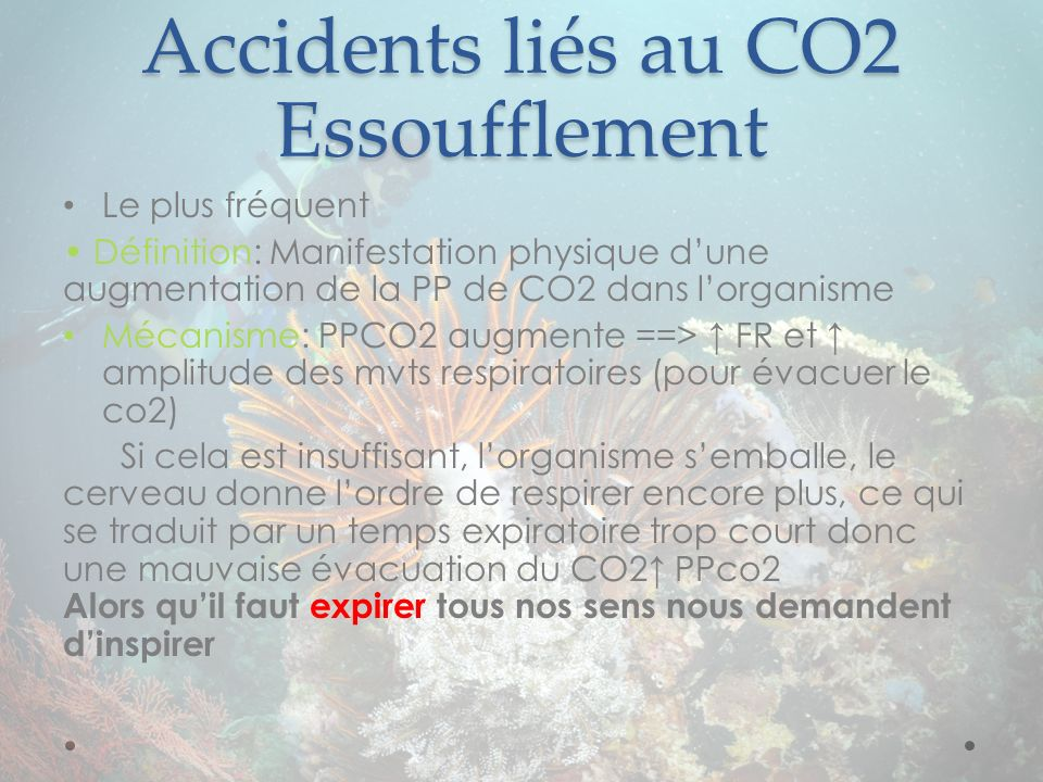 Accidents liés au CO2 Essoufflement