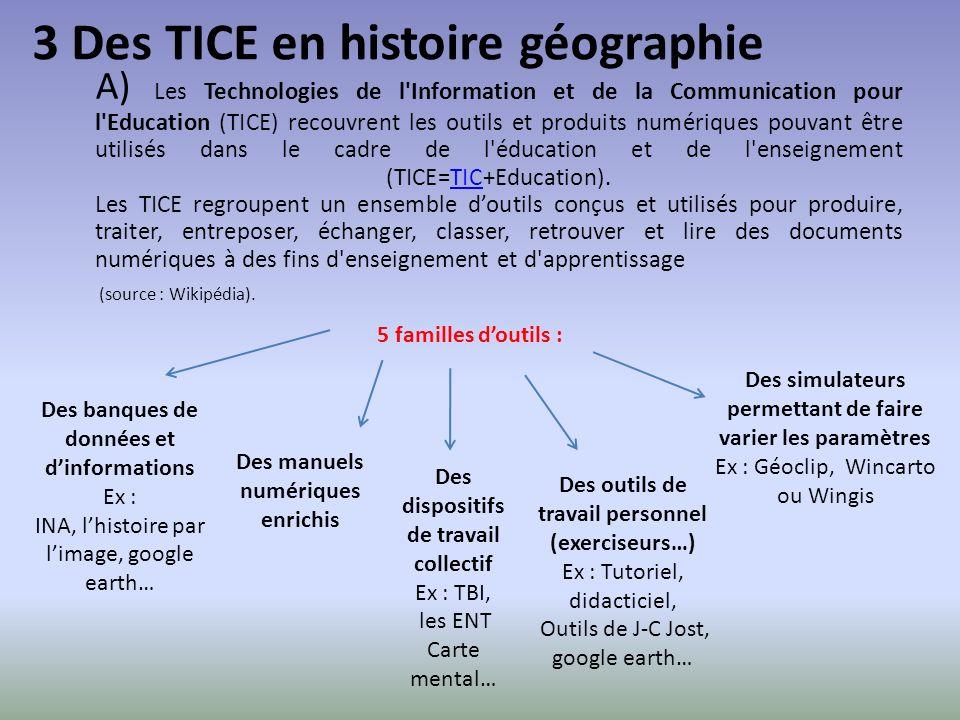 3 Des TICE en histoire géographie