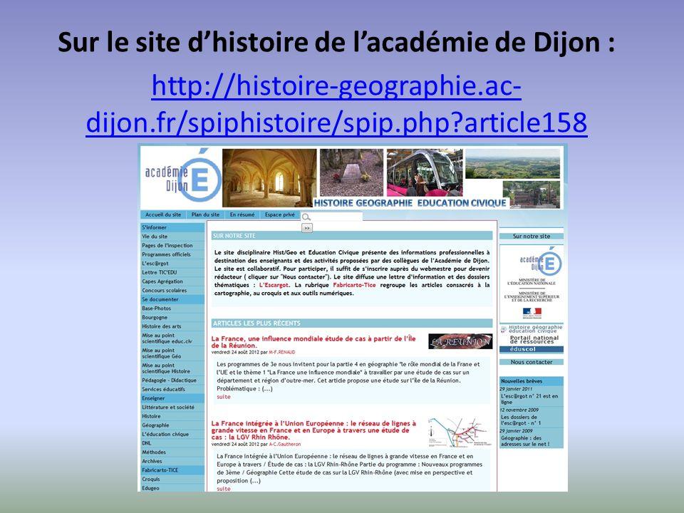 Sur le site d'histoire de l'académie de Dijon :