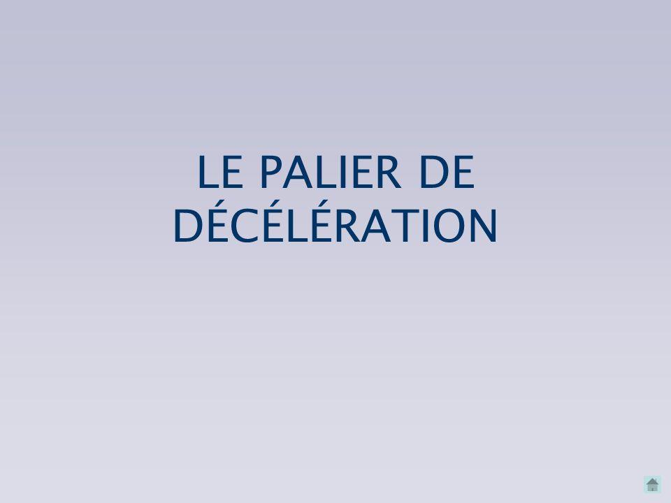 LE PALIER DE DÉCÉLÉRATION