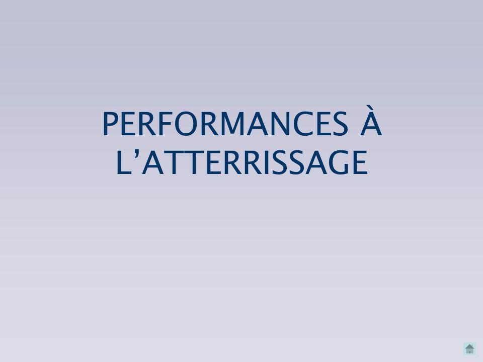 PERFORMANCES À L'ATTERRISSAGE