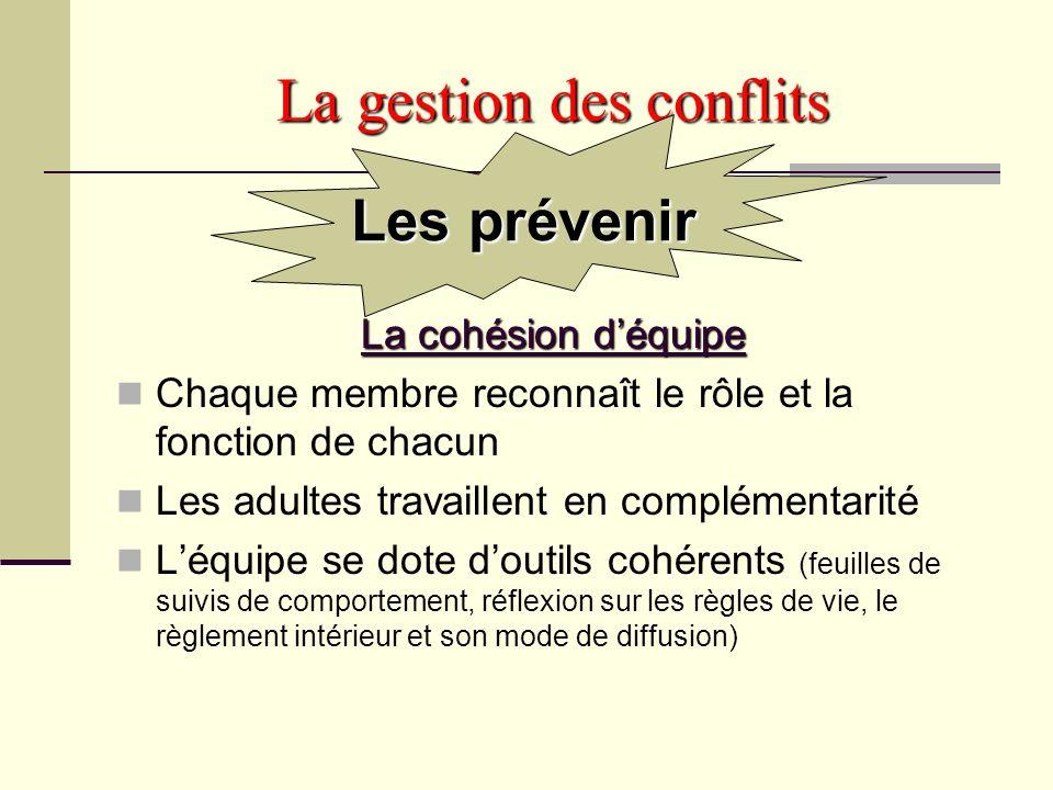 La gestion des conflits