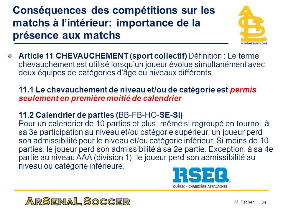Conséquences des compétitions sur les matchs à l'intérieur: importance de la présence aux matchs