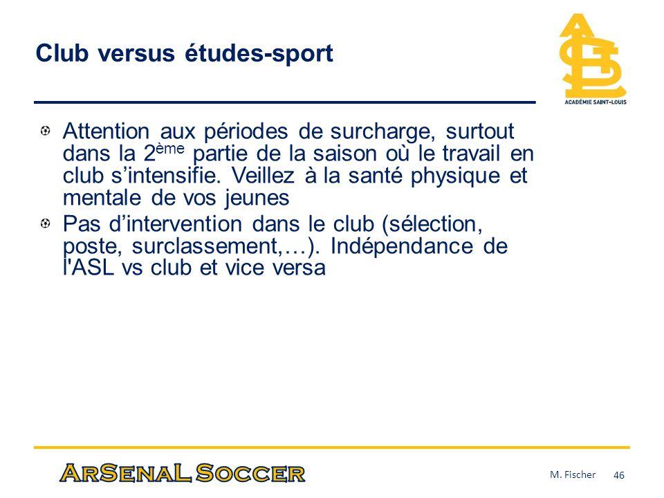 Club versus études-sport