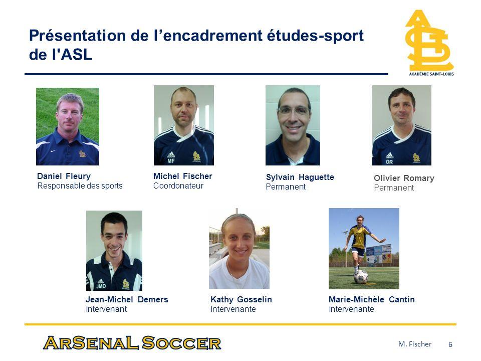 Présentation de l'encadrement études-sport de l ASL