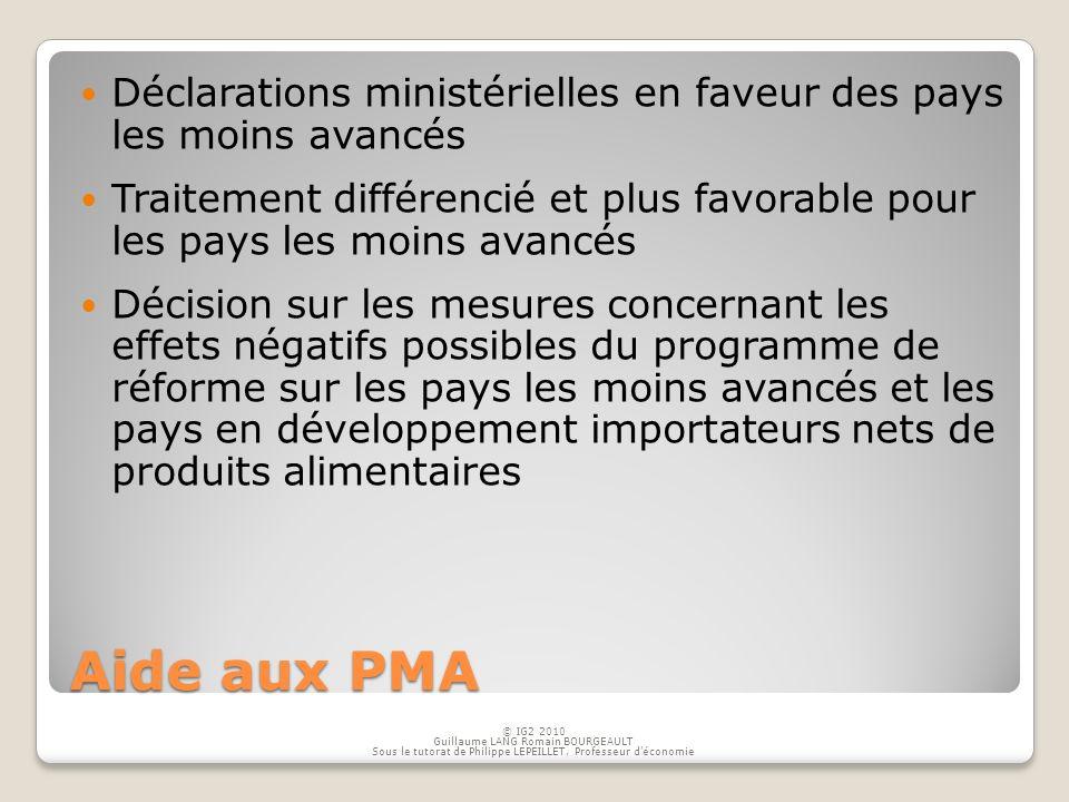 Déclarations ministérielles en faveur des pays les moins avancés