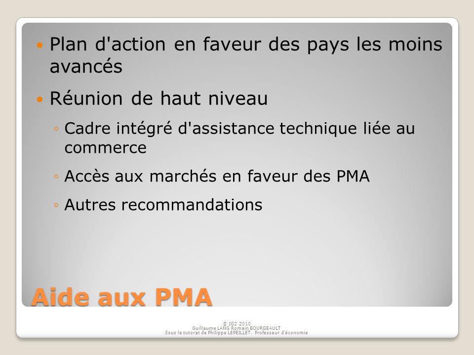 Aide aux PMA Plan d action en faveur des pays les moins avancés