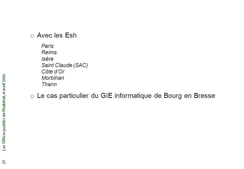 Le cas particulier du GIE informatique de Bourg en Bresse