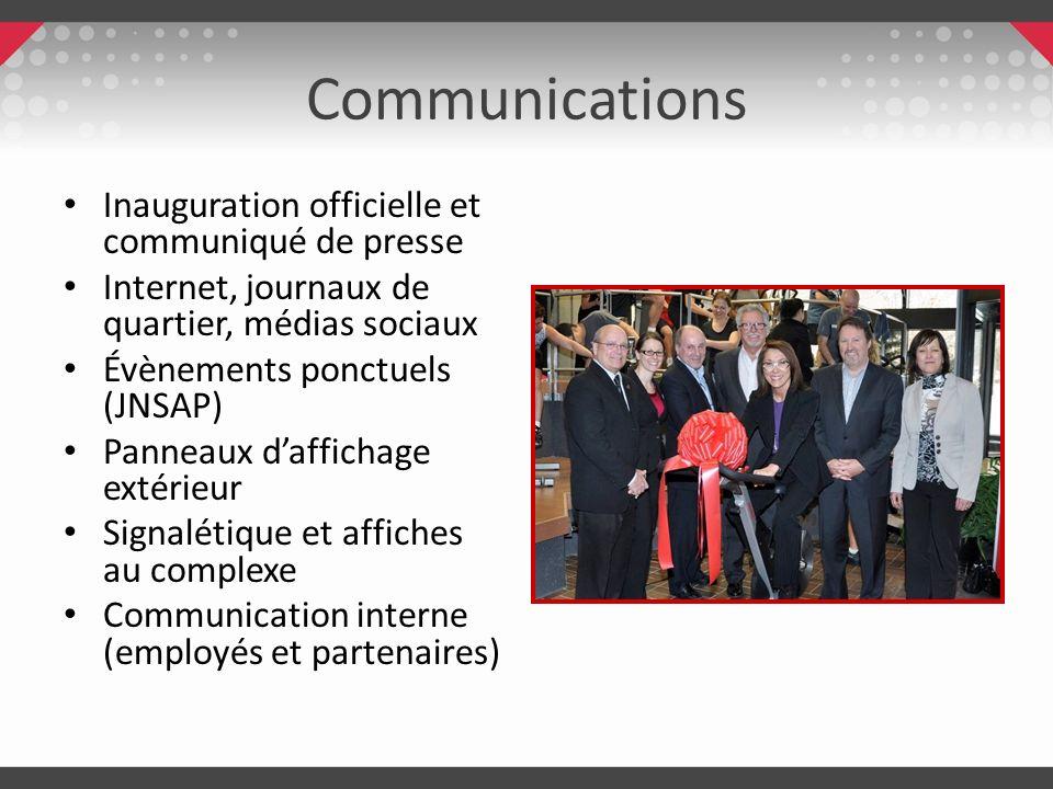 Communications Inauguration officielle et communiqué de presse