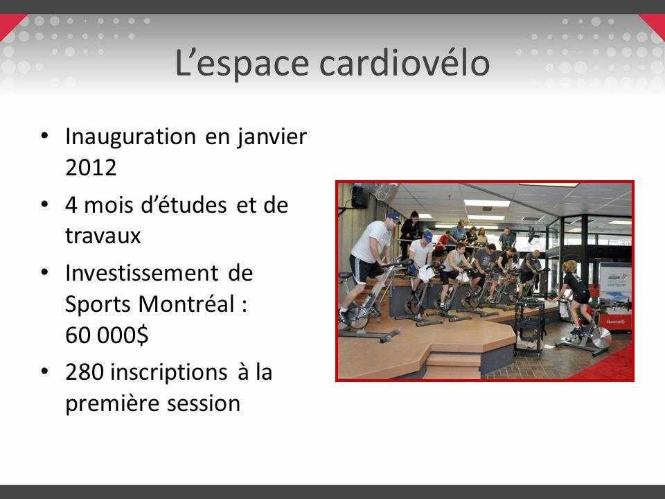 L'espace cardiovélo Inauguration en janvier 2012