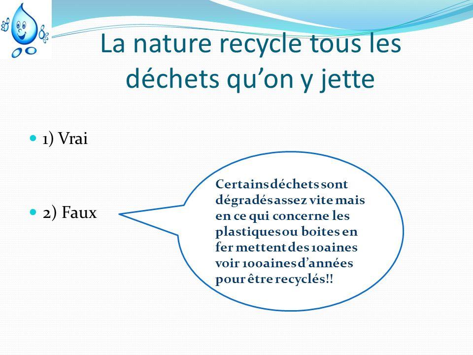 La nature recycle tous les déchets qu'on y jette