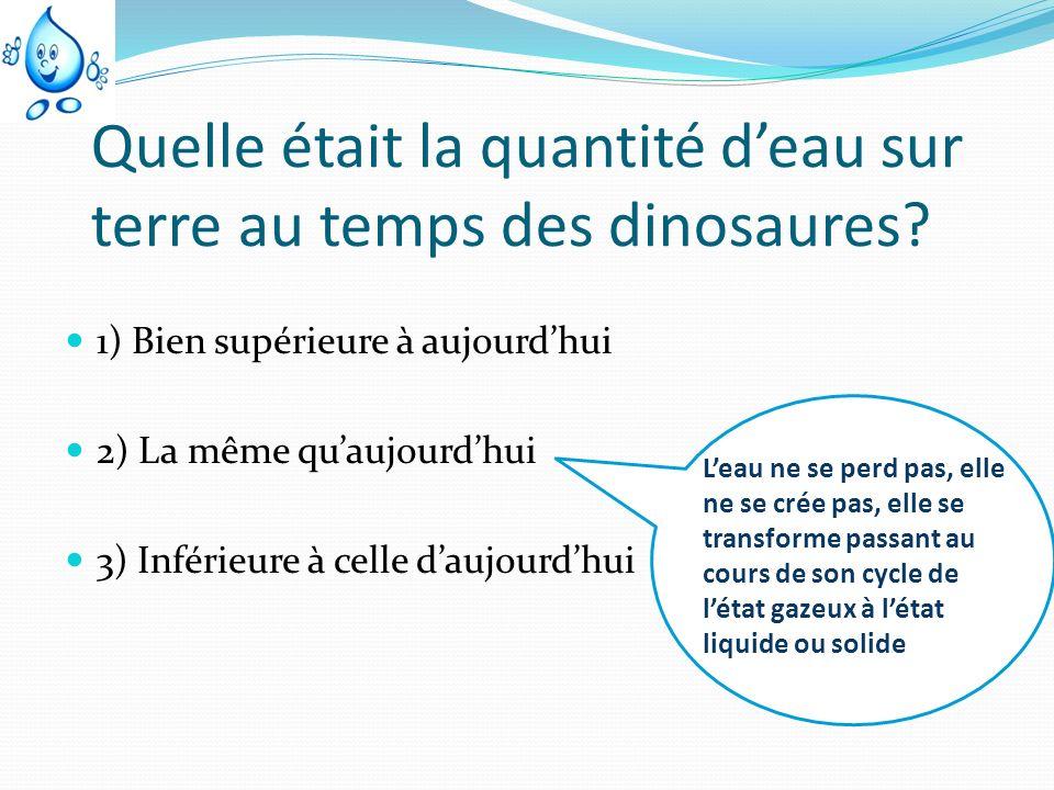 Quelle était la quantité d'eau sur terre au temps des dinosaures