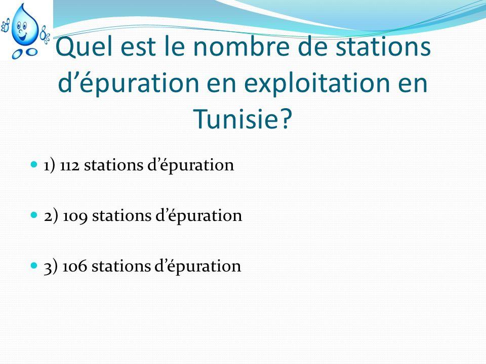 Quel est le nombre de stations d'épuration en exploitation en Tunisie