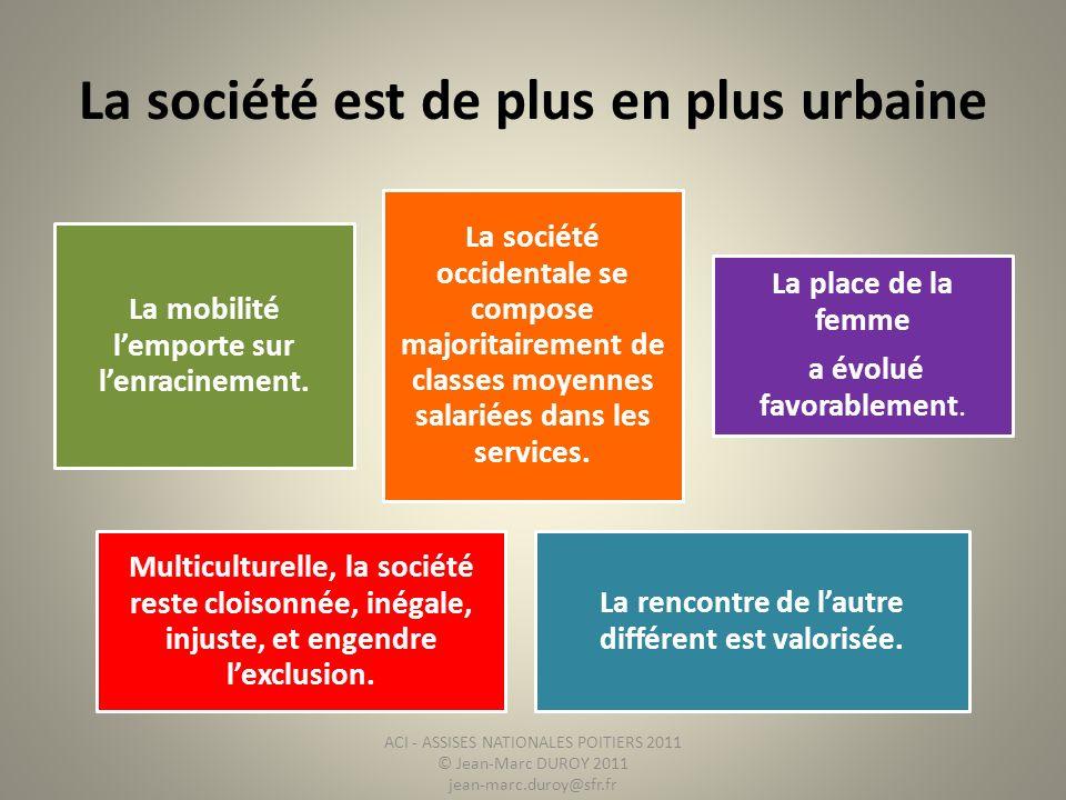 La société est de plus en plus urbaine