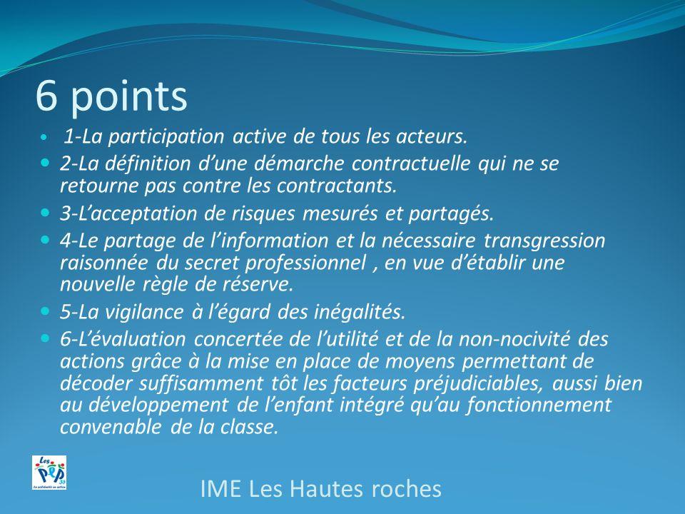 6 points IME Les Hautes roches
