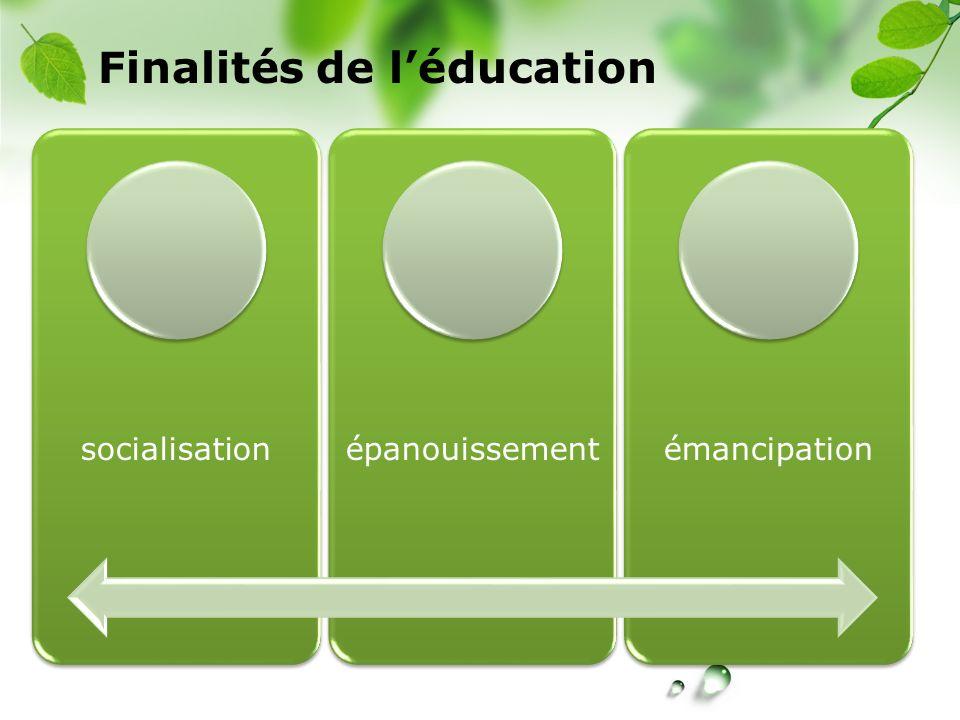 Finalités de l'éducation