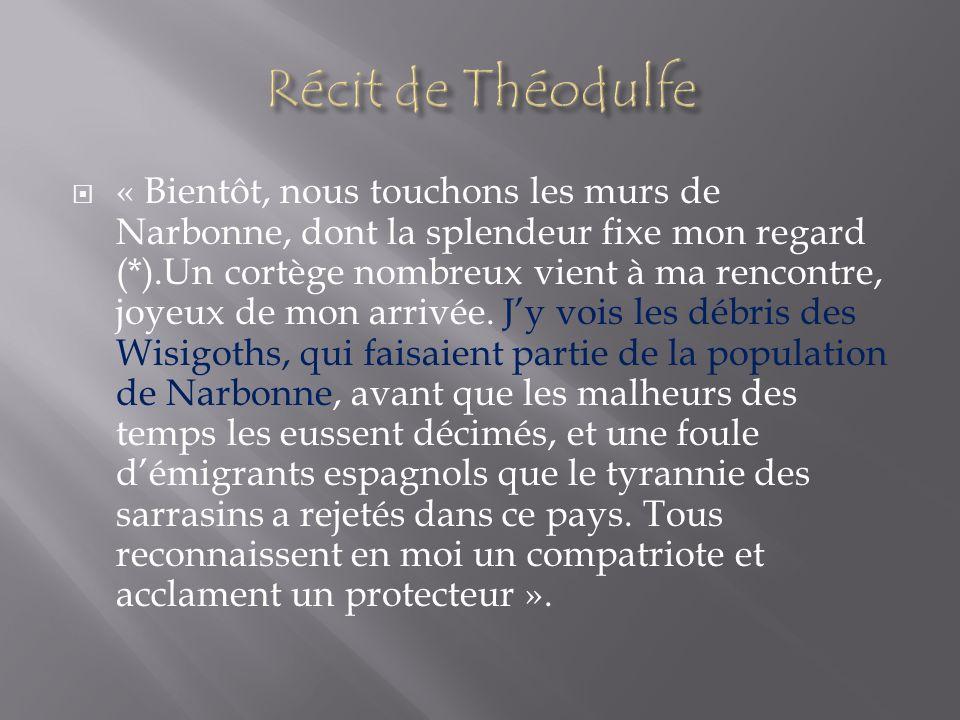Récit de Théodulfe