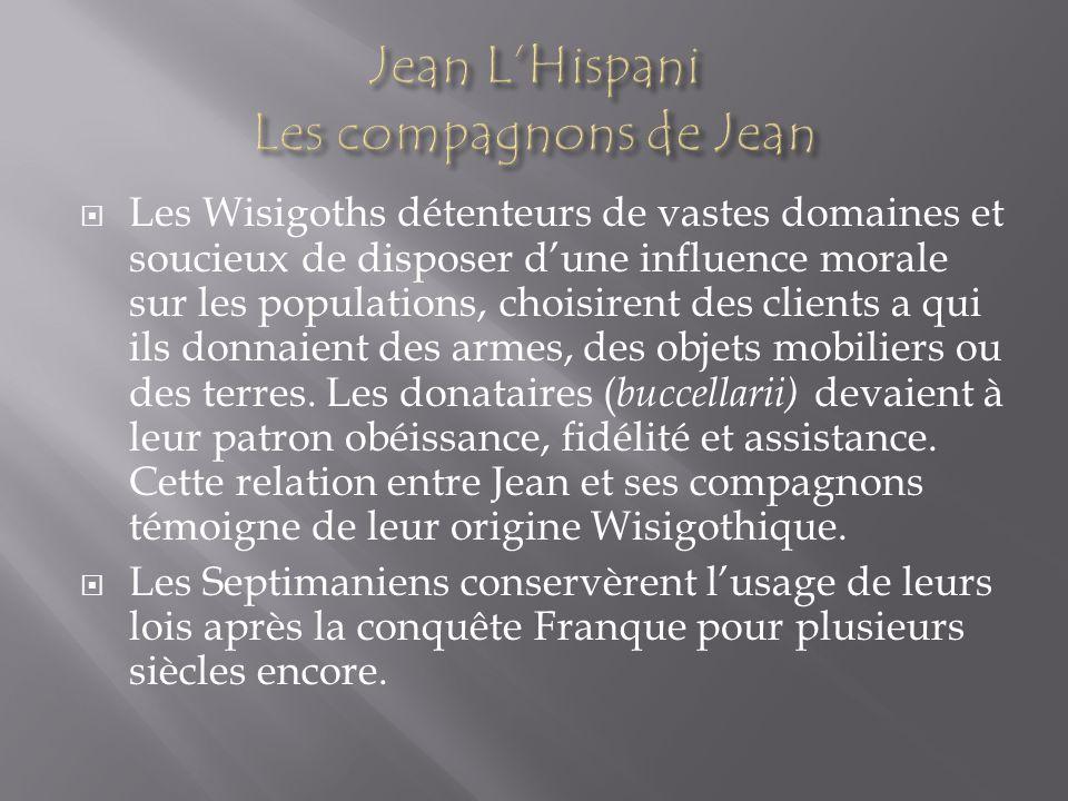 Jean L'Hispani Les compagnons de Jean