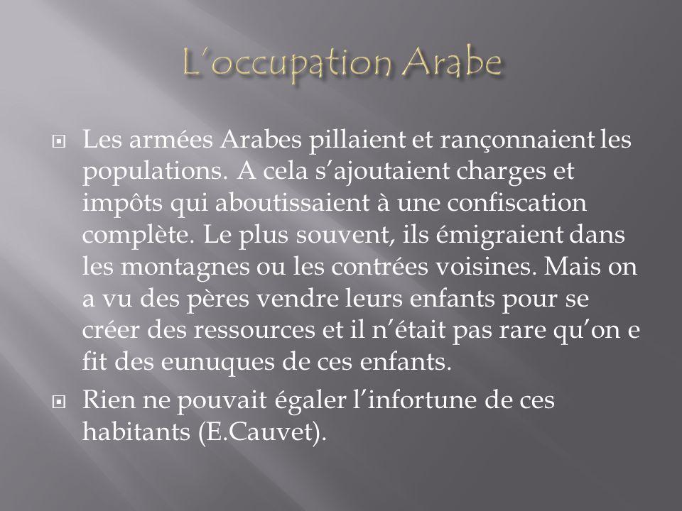 L'occupation Arabe
