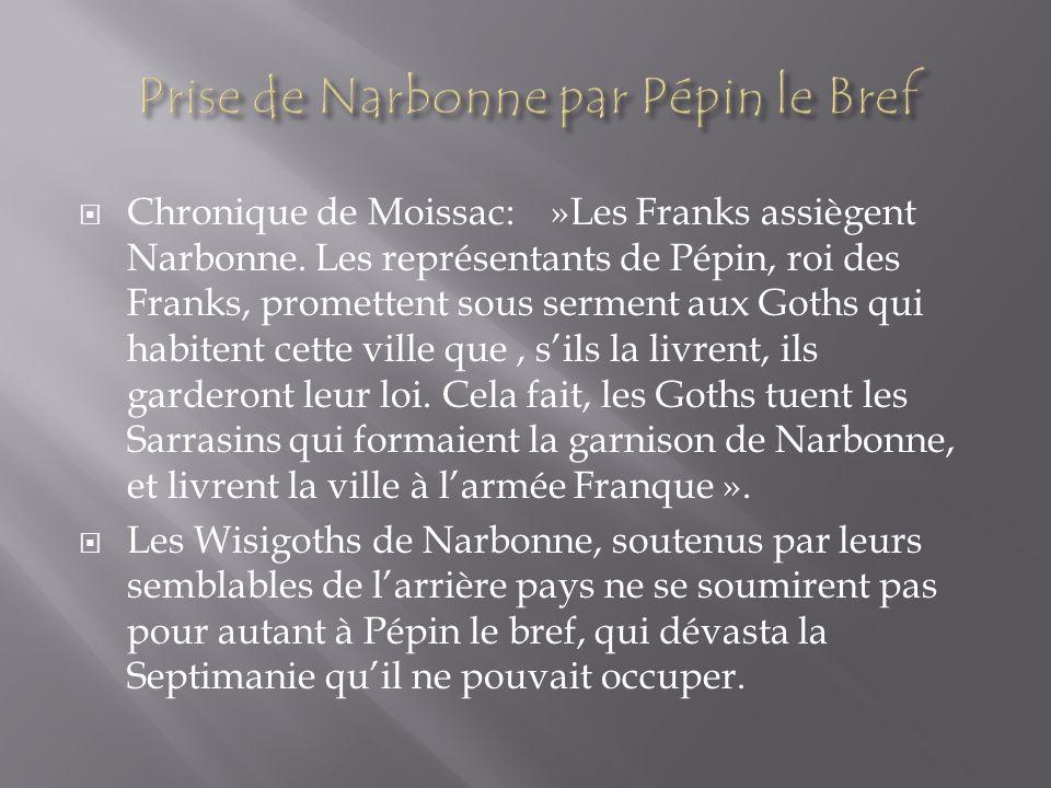 Prise de Narbonne par Pépin le Bref