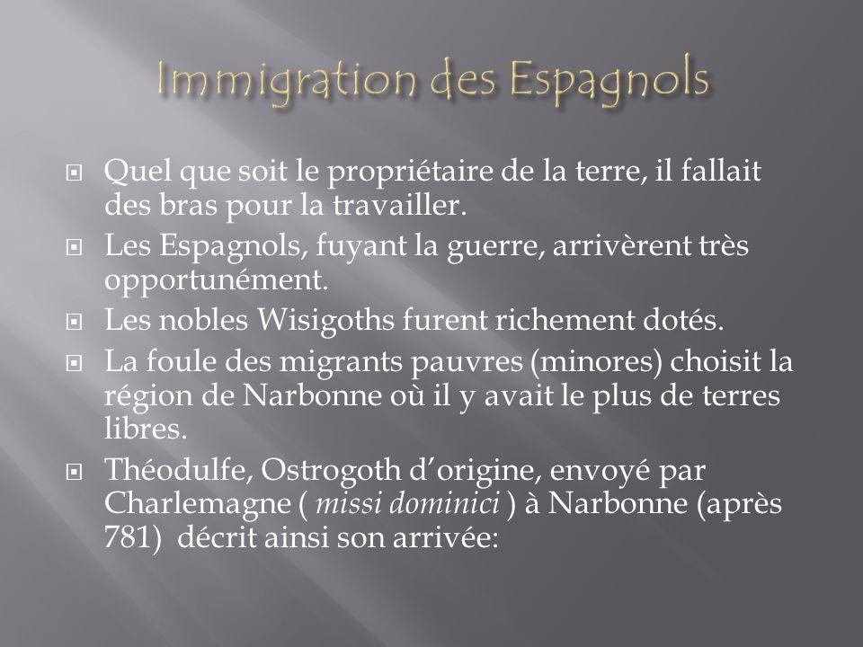 Immigration des Espagnols
